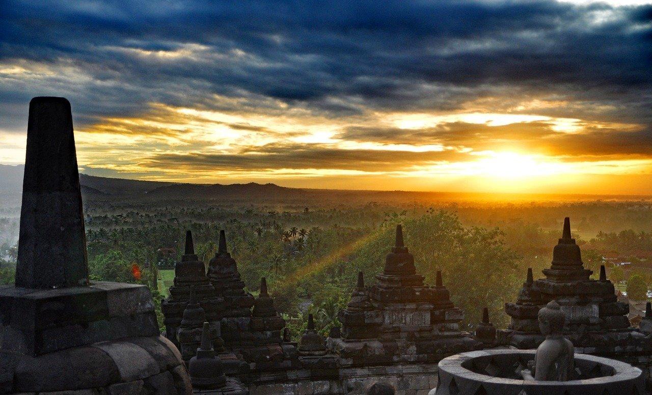 Central Java's Borobudur Temple. Image by Geoffery iGV on Pixabay
